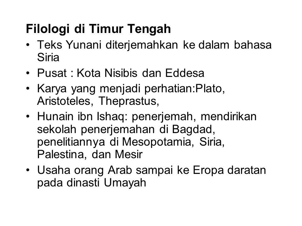 Filologi di Timur Tengah