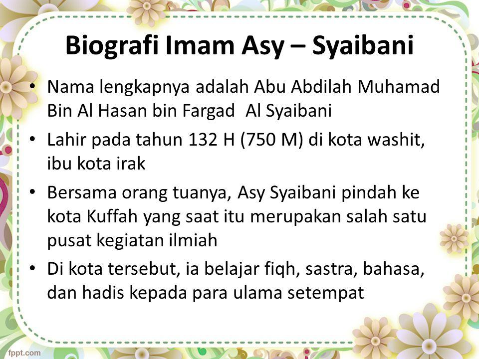 Biografi Imam Asy – Syaibani