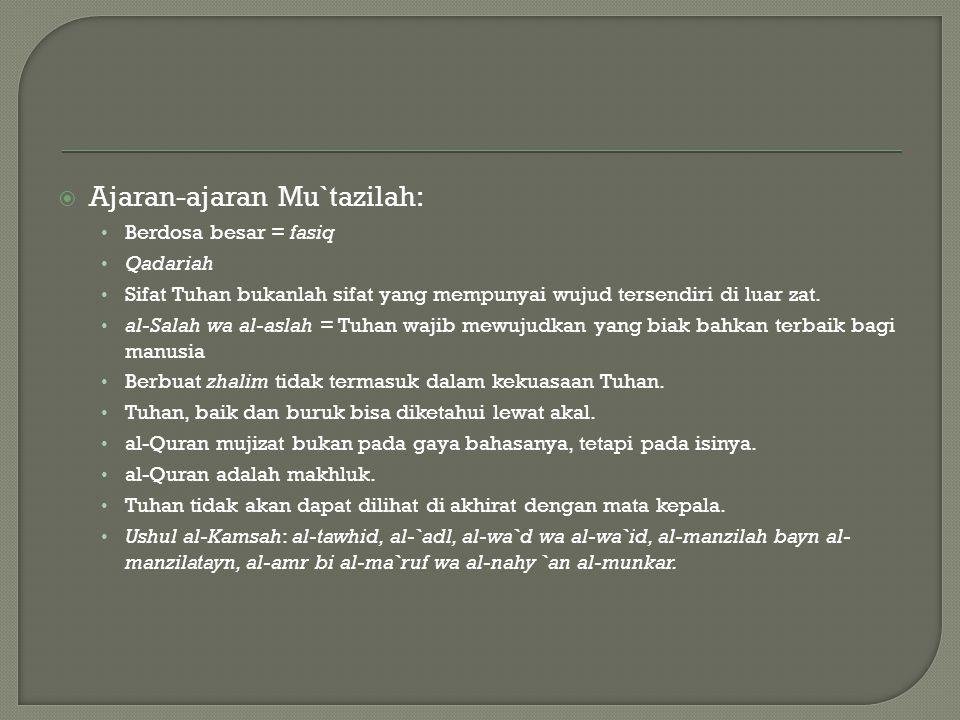 Ajaran-ajaran Mu`tazilah: