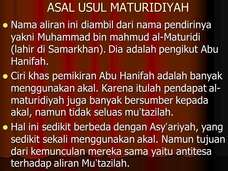ASAL USUL MATURIDIYAH