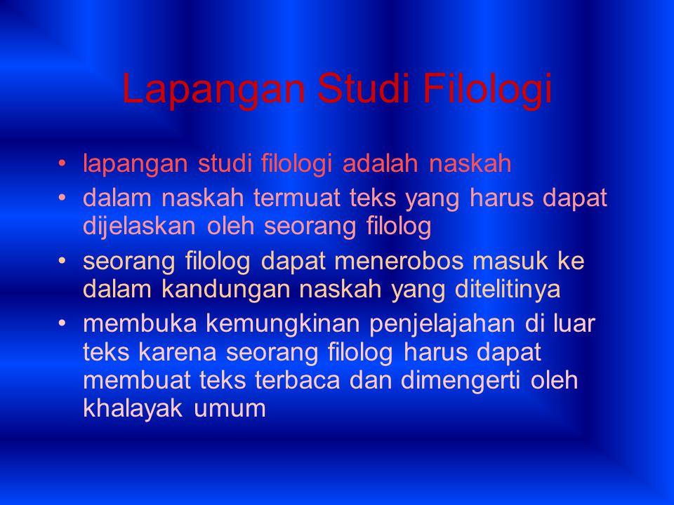 Lapangan Studi Filologi