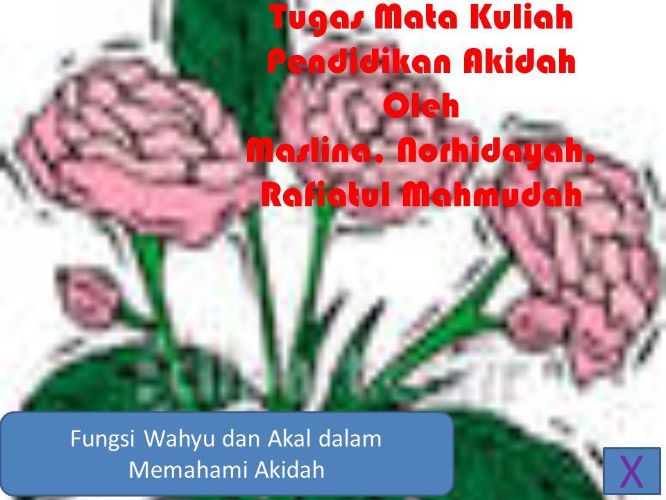 Fungsi Wahyu dan Akal dalam Memahami Akidah