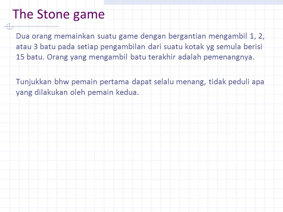 The Stone game