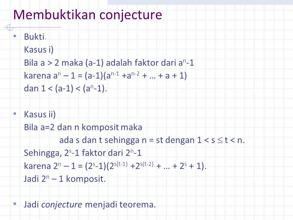 Membuktikan conjecture