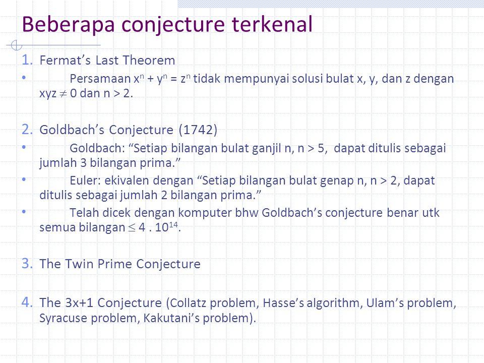 Beberapa conjecture terkenal