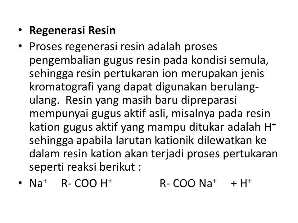 Regenerasi Resin