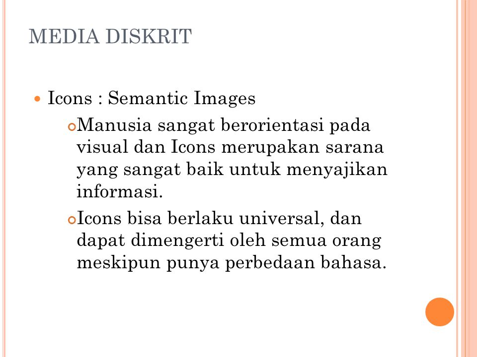 MEDIA DISKRIT Icons : Semantic Images