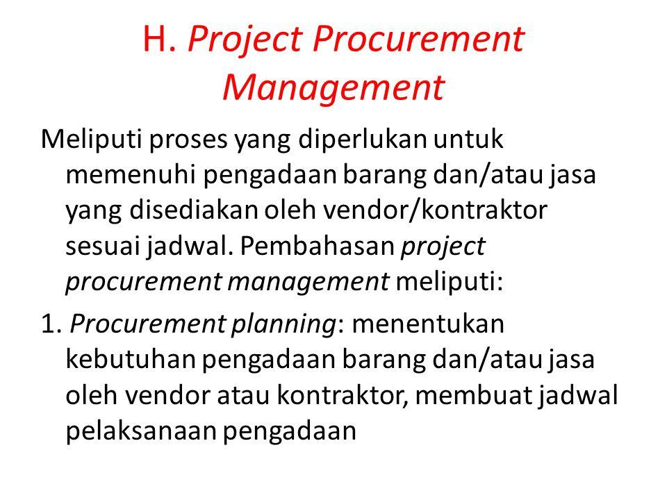 H. Project Procurement Management