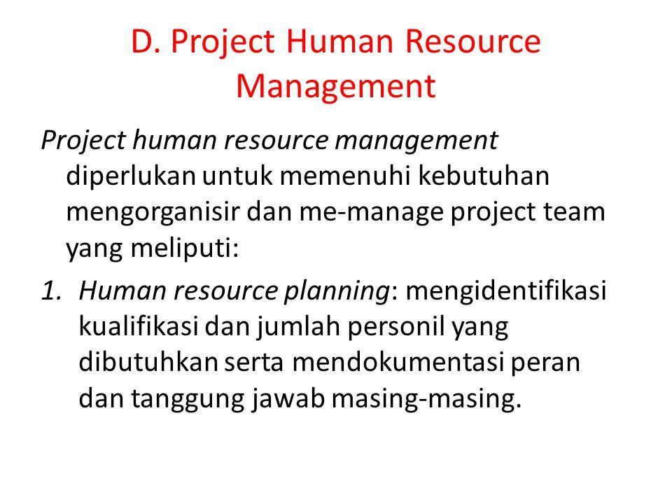 D. Project Human Resource Management