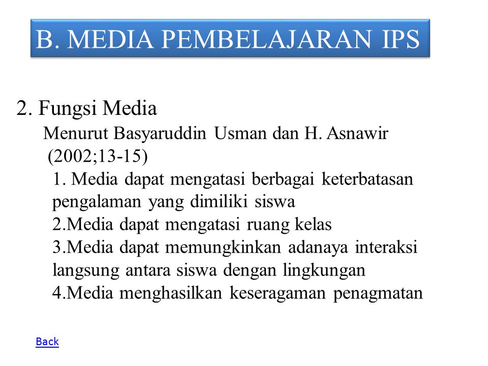 B. MEDIA PEMBELAJARAN IPS