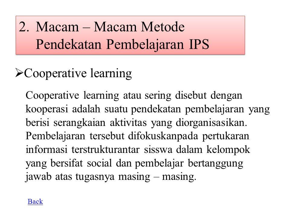 Macam – Macam Metode Pendekatan Pembelajaran IPS