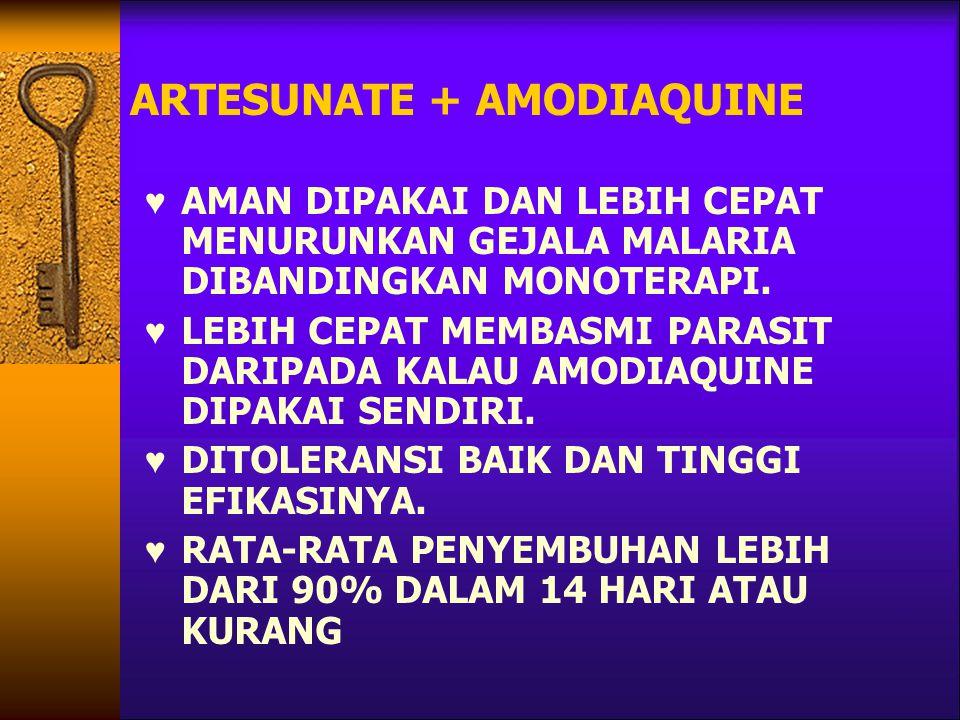 ARTESUNATE + AMODIAQUINE