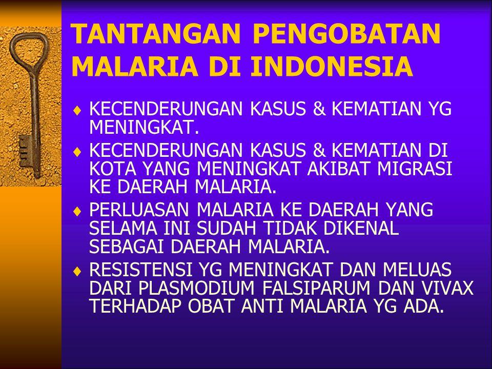 TANTANGAN PENGOBATAN MALARIA DI INDONESIA