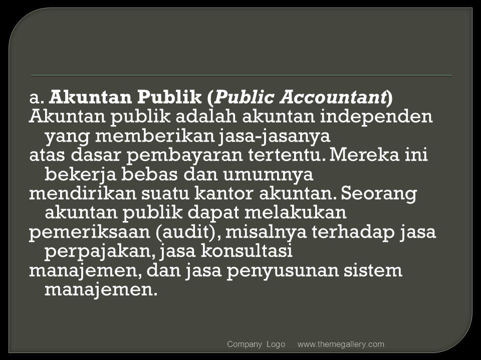 a. Akuntan Publik (Public Accountant)