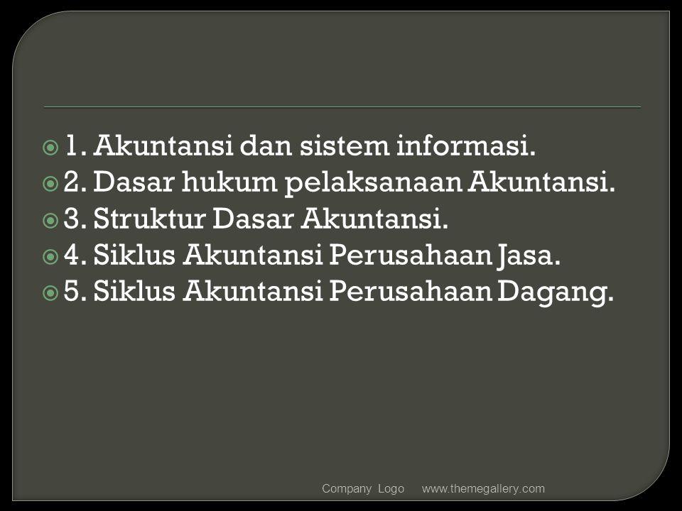 1. Akuntansi dan sistem informasi.