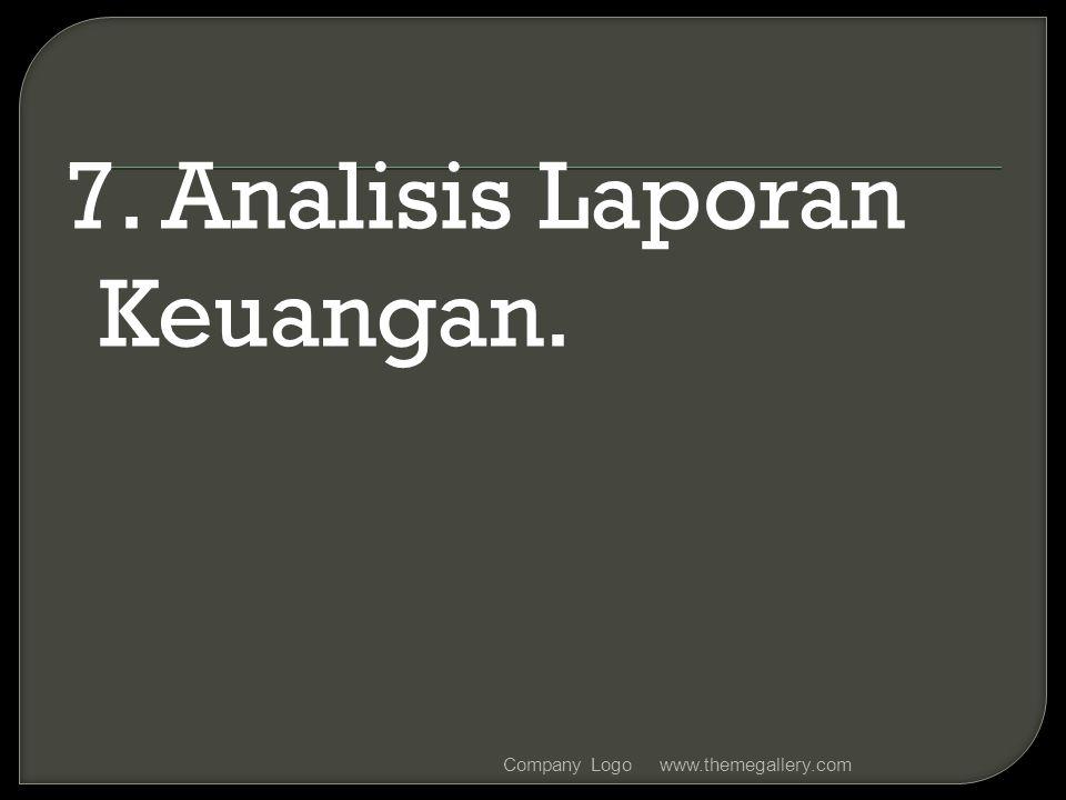 7. Analisis Laporan Keuangan.