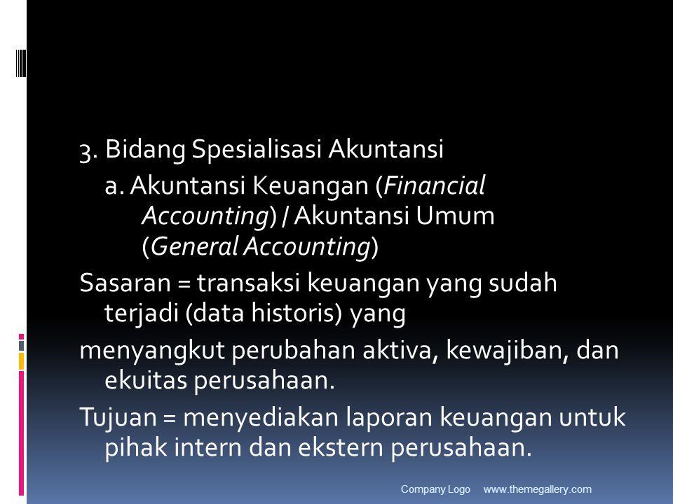 3. Bidang Spesialisasi Akuntansi