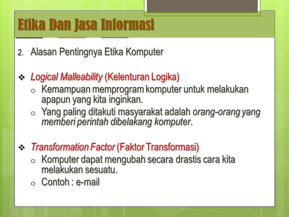 Etika Dan Jasa Informasi