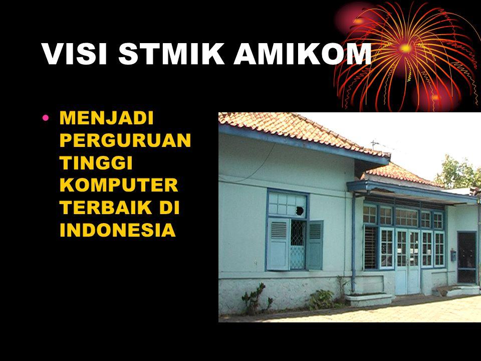 VISI STMIK AMIKOM MENJADI PERGURUAN TINGGI KOMPUTER TERBAIK DI INDONESIA