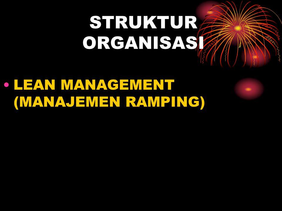 STRUKTUR ORGANISASI LEAN MANAGEMENT (MANAJEMEN RAMPING)