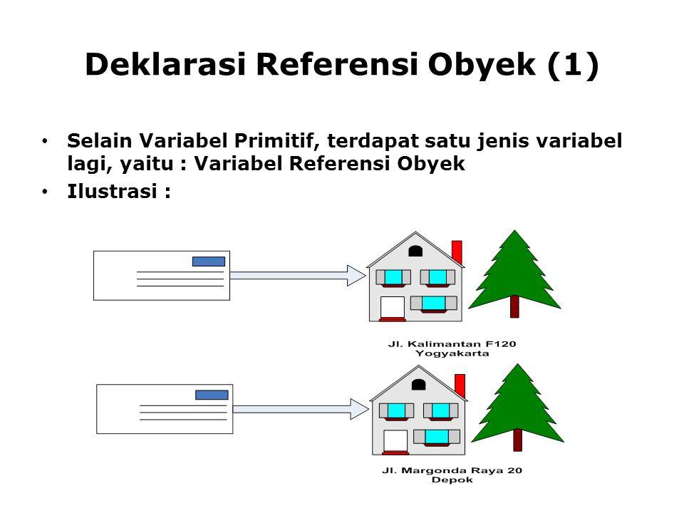 Deklarasi Referensi Obyek (1)