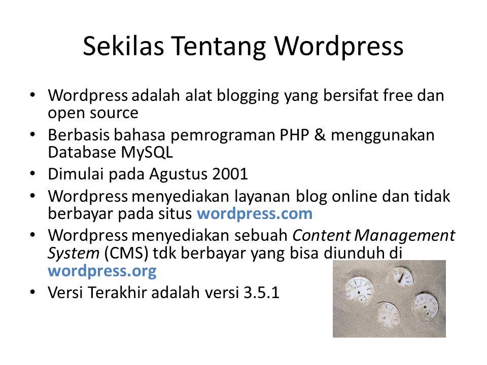 Sekilas Tentang Wordpress