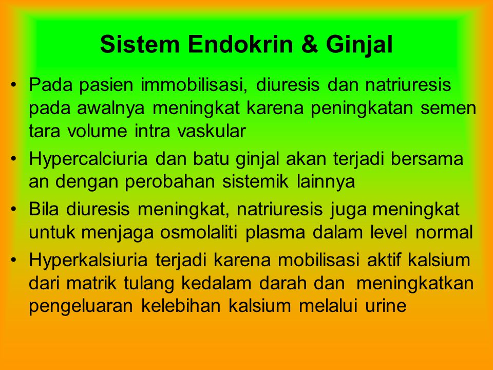 Sistem Endokrin & Ginjal