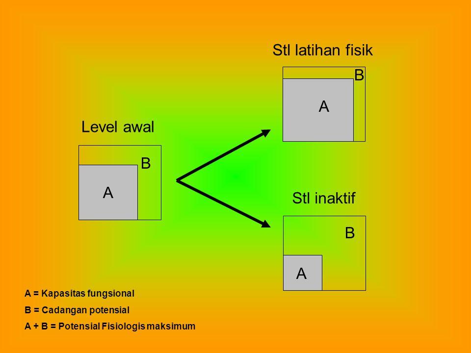 Stl latihan fisik B A Level awal B A Stl inaktif B A