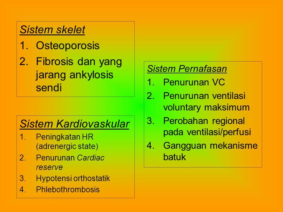 Fibrosis dan yang jarang ankylosis sendi