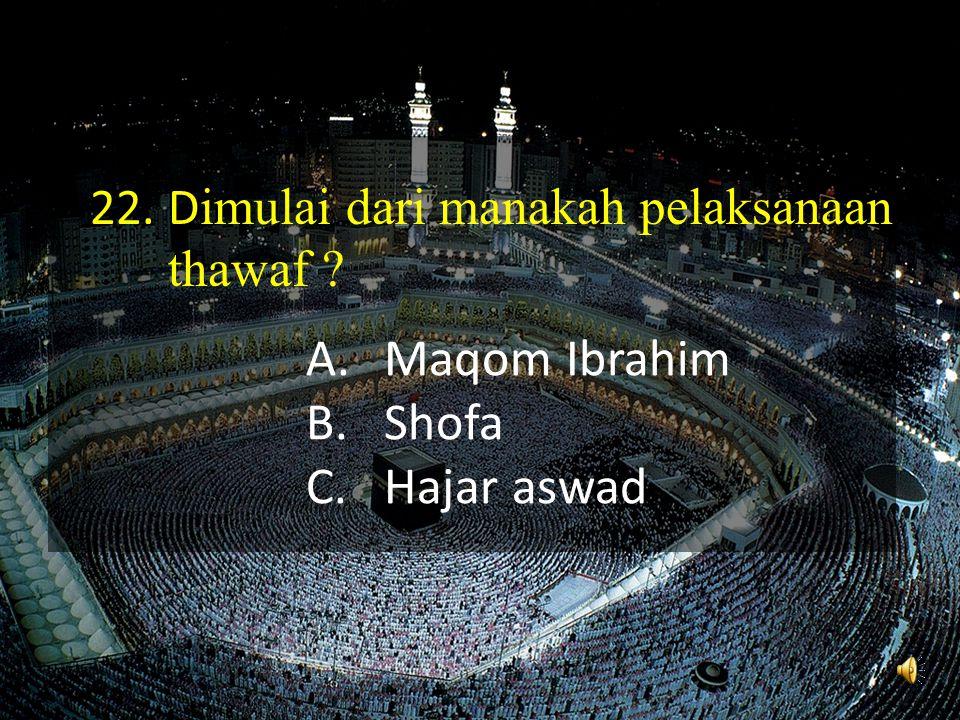 Maqom Ibrahim Shofa Hajar aswad