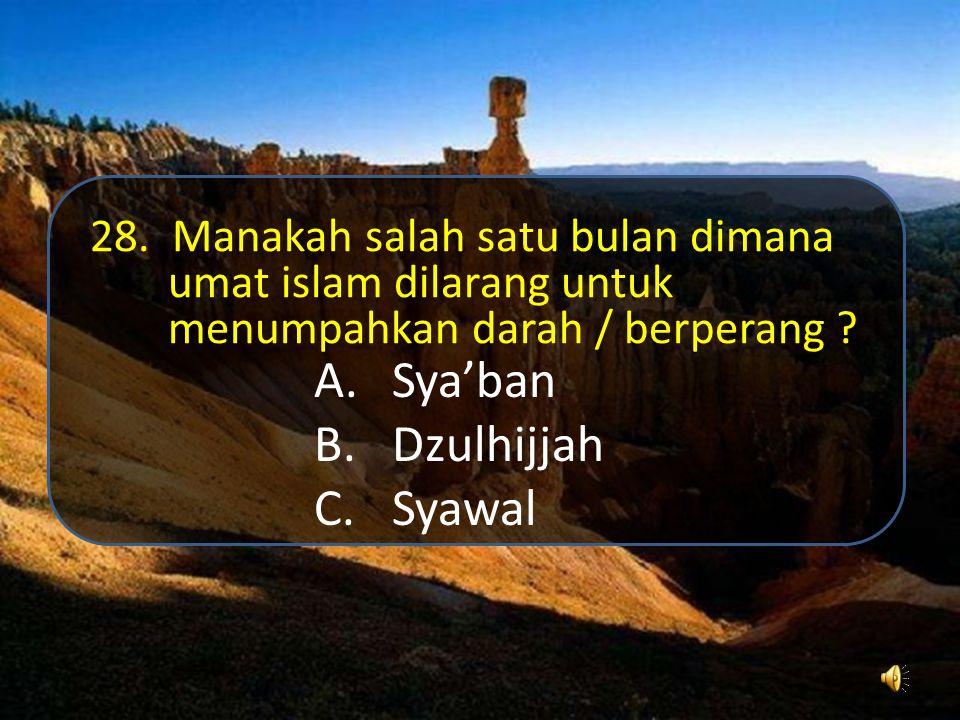 Sya'ban Dzulhijjah Syawal