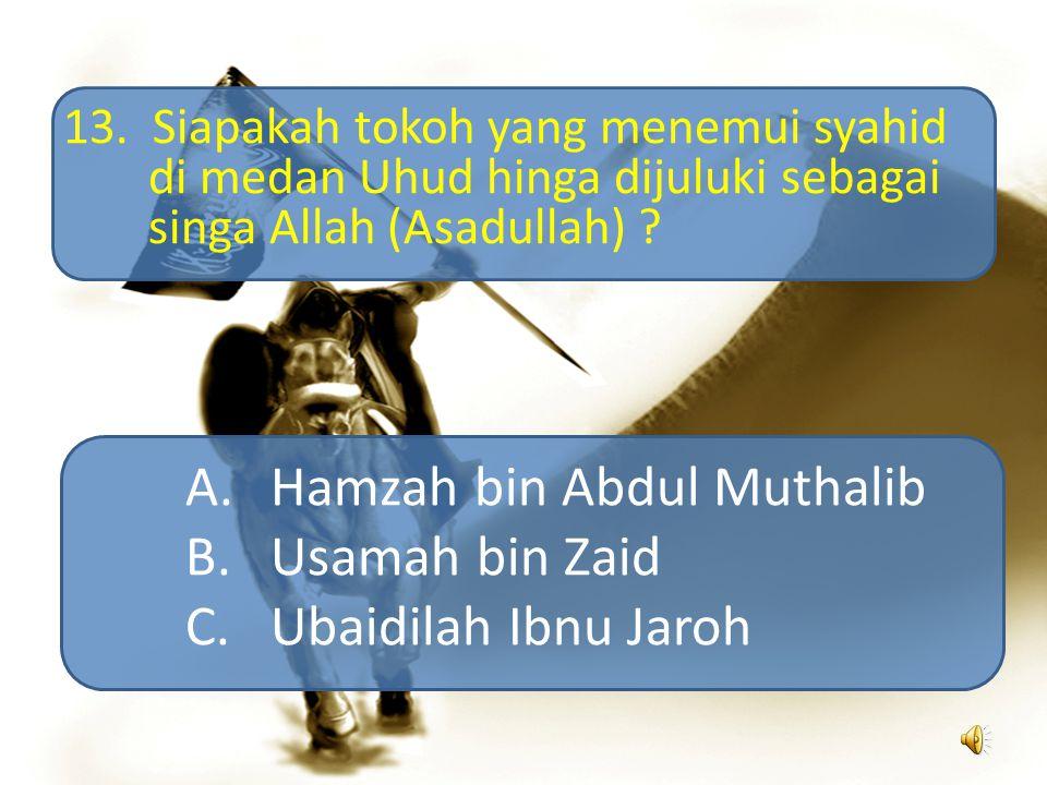 Hamzah bin Abdul Muthalib Usamah bin Zaid Ubaidilah Ibnu Jaroh
