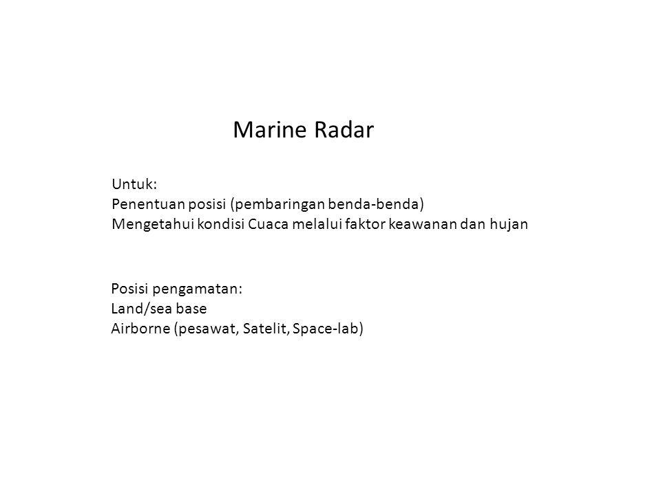 Marine Radar Untuk: Penentuan posisi (pembaringan benda-benda)