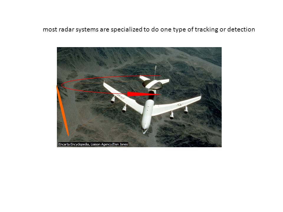 most radar systems are specialized to do one type of tracking or detection