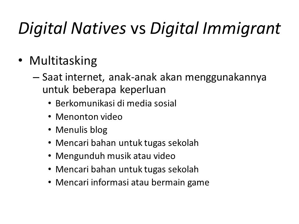 Digital Natives vs Digital Immigrant