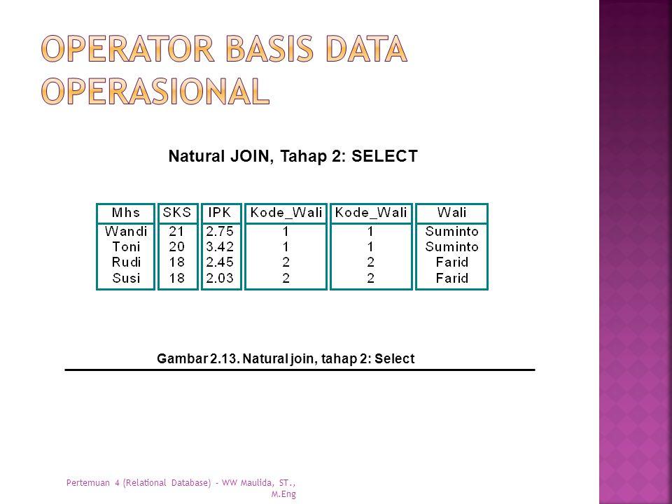 Operator basis data operasional