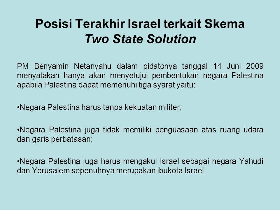 Posisi Terakhir Israel terkait Skema Two State Solution