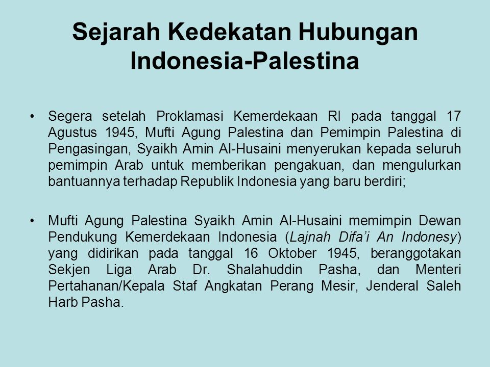 Sejarah Kedekatan Hubungan Indonesia-Palestina