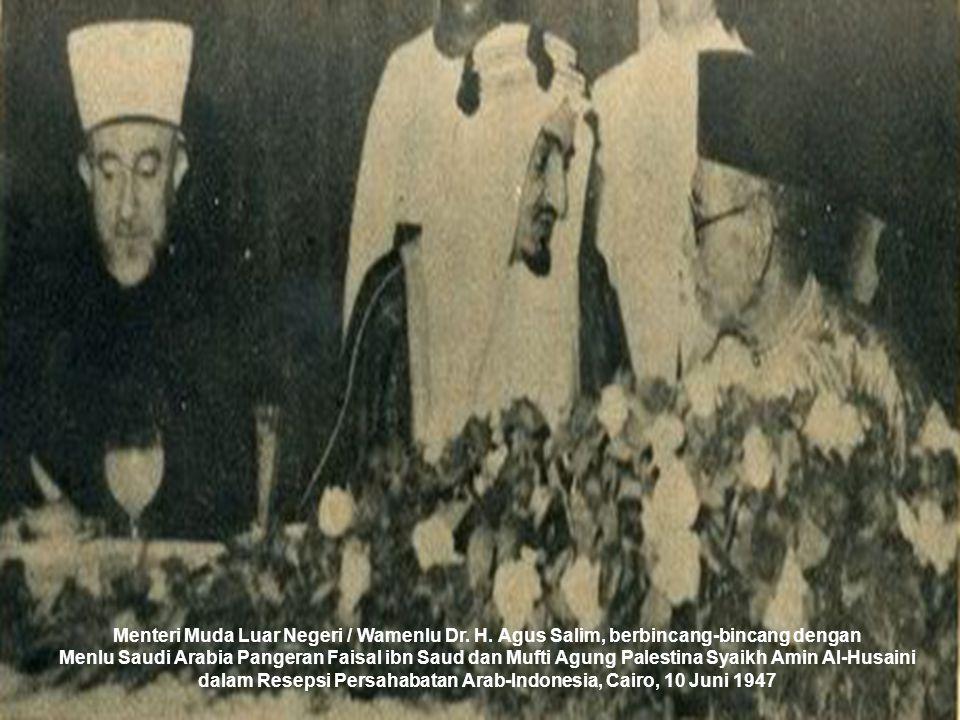 dalam Resepsi Persahabatan Arab-Indonesia, Cairo, 10 Juni 1947