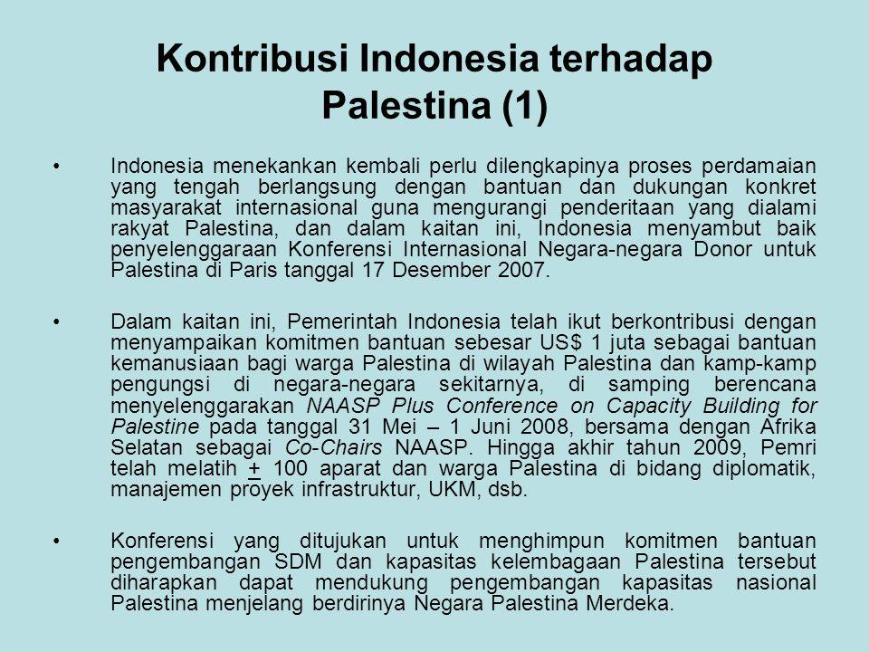 Kontribusi Indonesia terhadap Palestina (1)