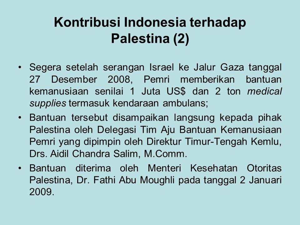 Kontribusi Indonesia terhadap Palestina (2)