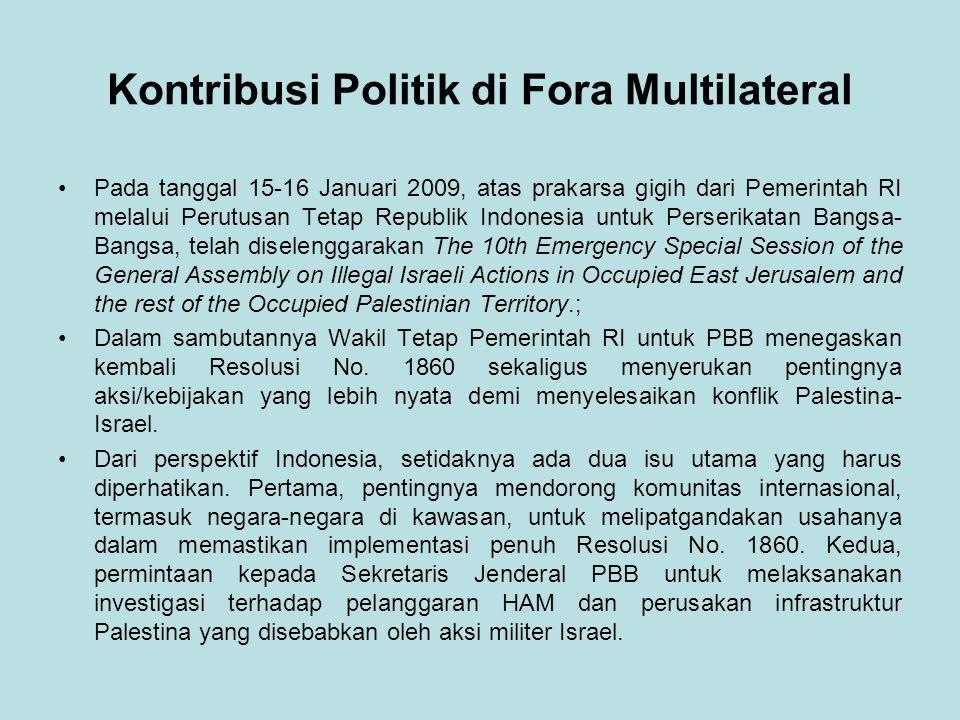Kontribusi Politik di Fora Multilateral