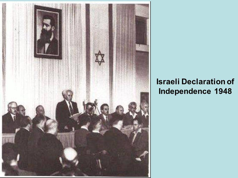 Israeli Declaration of Independence 1948