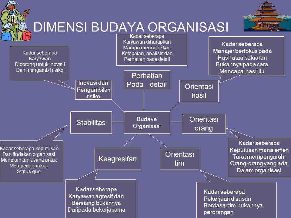 DIMENSI BUDAYA ORGANISASI