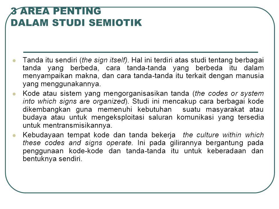 3 AREA PENTING DALAM STUDI SEMIOTIK