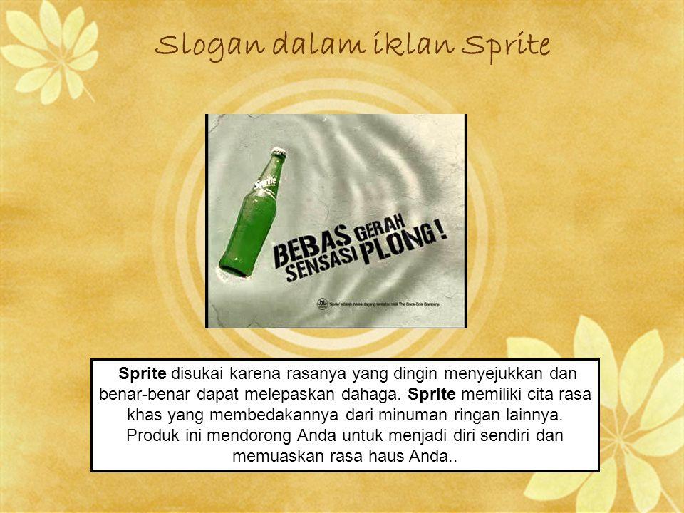 Slogan dalam iklan Sprite