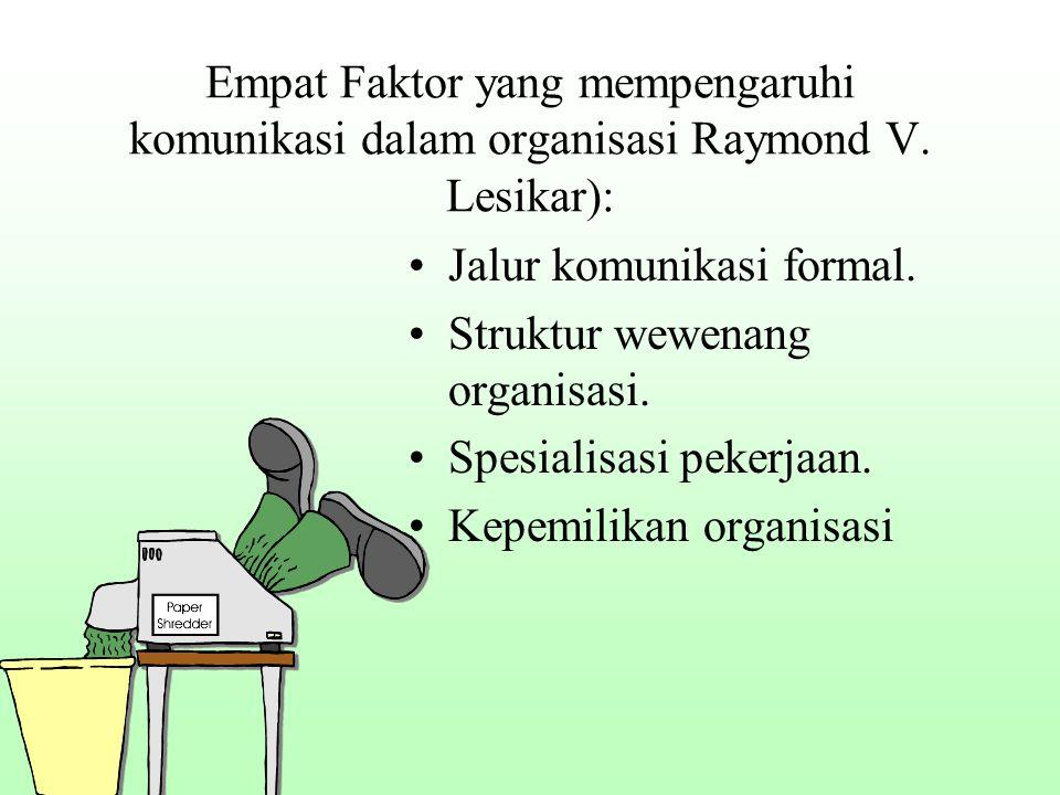 Empat Faktor yang mempengaruhi komunikasi dalam organisasi Raymond V