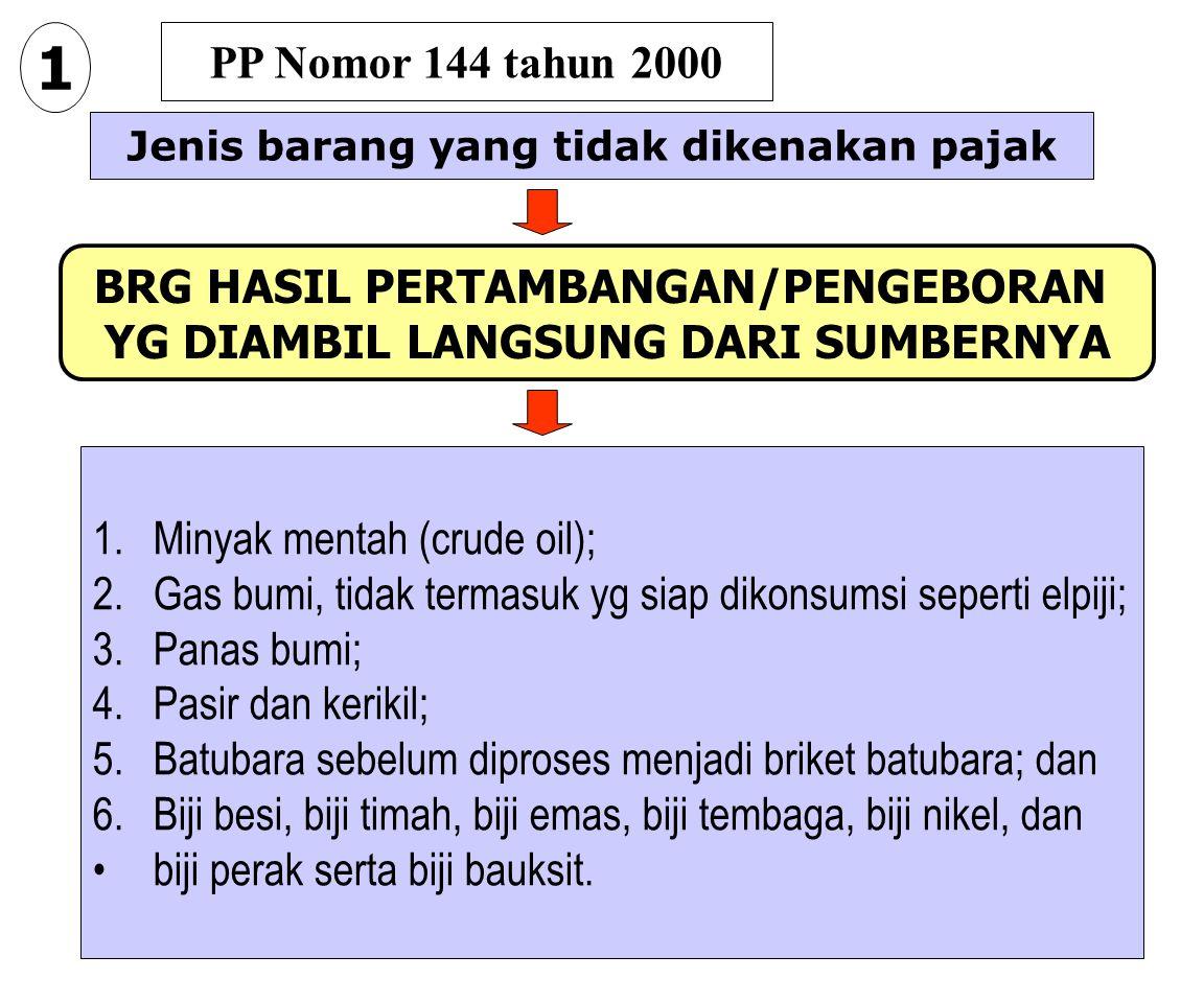 1 PP Nomor 144 tahun 2000 BRG HASIL PERTAMBANGAN/PENGEBORAN