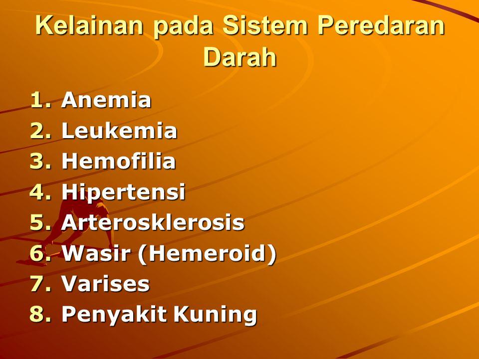 Kelainan pada Sistem Peredaran Darah