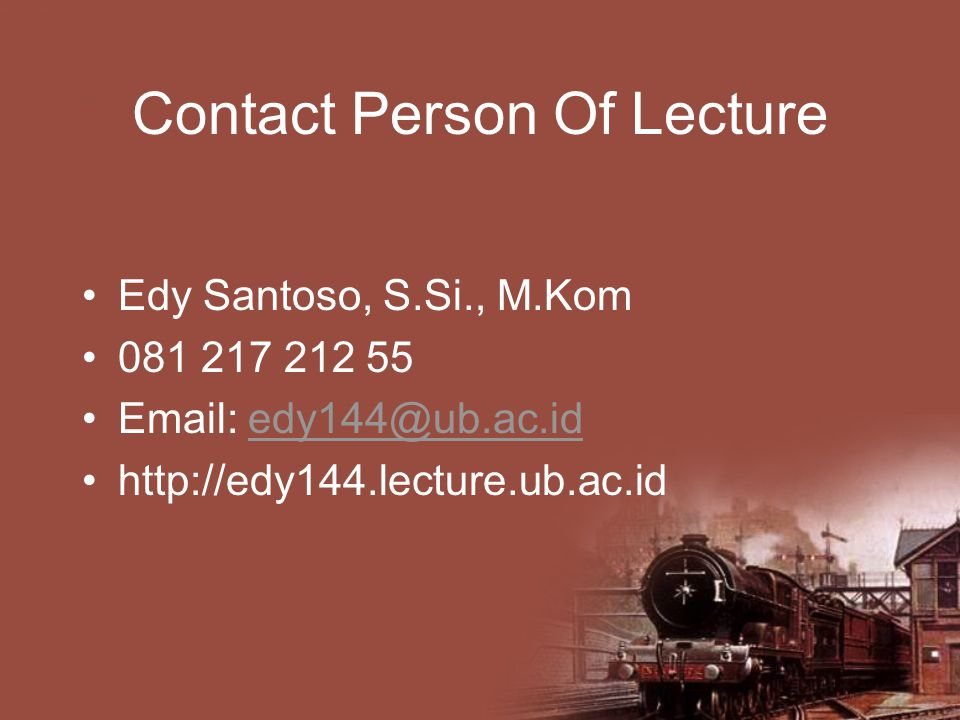 Contact Person Of Lecture